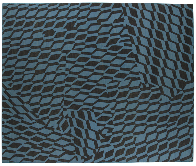 , ' Composition in Blue Black,' 2015, Maddox Arts