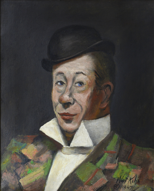 , 'Portrait of Bert Lahr ,' 1947, Robert Funk Fine Art