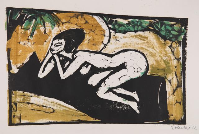 Erich Heckel, 'Liegende auf schwarzem Tuch ', 1911, Henze & Ketterer
