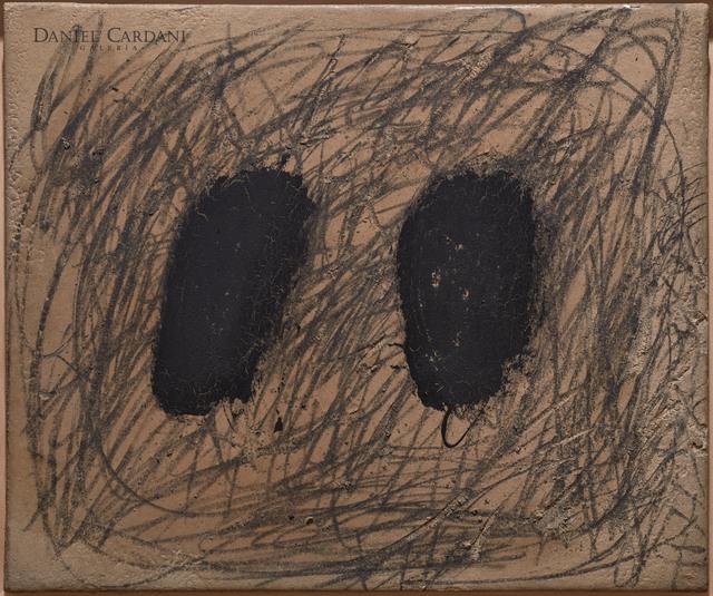 , 'Dues taques negres i grafisme ,' 1969, Galería Daniel Cardani