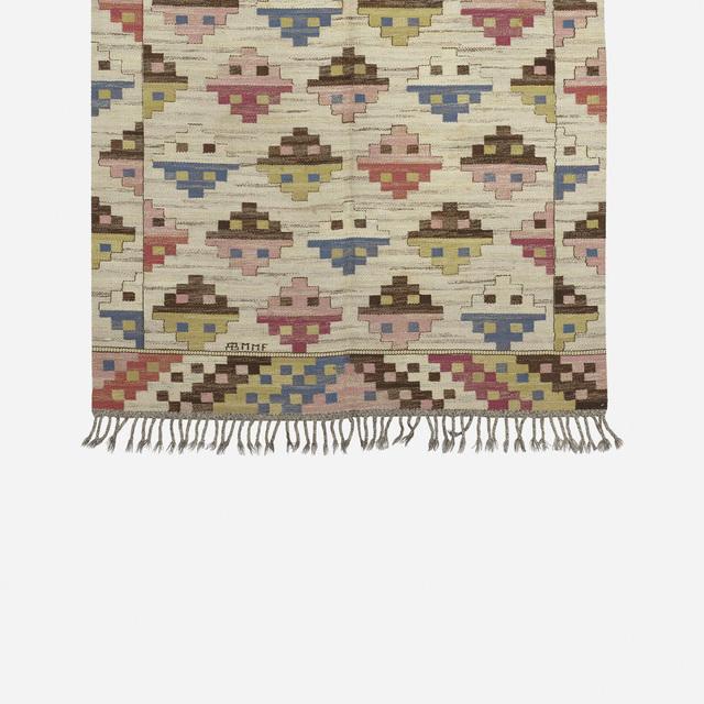 Märta Måås-Fjetterström, 'Munka Ljungby flatweave carpet', Design/Decorative Art, Hand-woven wool, Rago/Wright