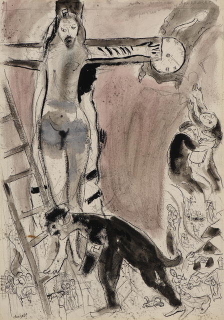 Marc Chagall, 'Apocalypse en Lilas, Capriccio', 1945, Painting, Gouache, pencil, indian wash ink and indian ink on paper, Ben Uri Gallery and Museum