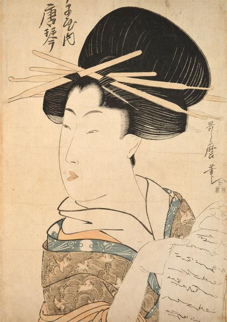 Kitagawa Utamaro, 'Courtesan Karakoto from Chojiya', ca. 1802, Ronin Gallery