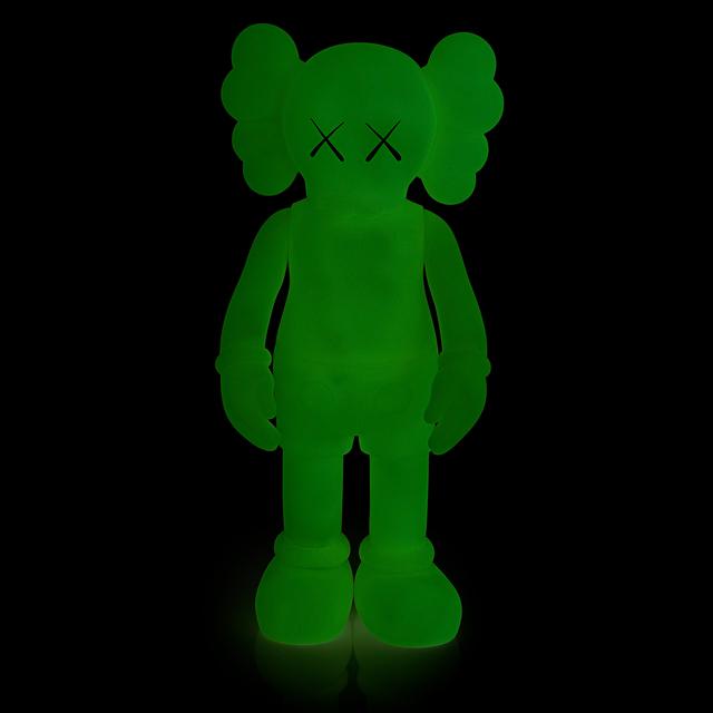KAWS, 'Companion (Five Years Later - Glow in the Dark, Green)', 2004, Sculpture, Vinyl multiple, Rago/Wright
