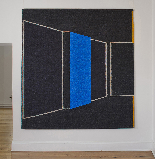 Gudrun Pagter, 'Blue Wall', 2013, Textile Arts, Sisal, linen/flax, browngrotta arts