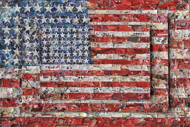 Vik Muniz, 'Three Flags, after Jasper Johns (Pictures of Magazines 2),' 2014, Sikkema Jenkins & Co.