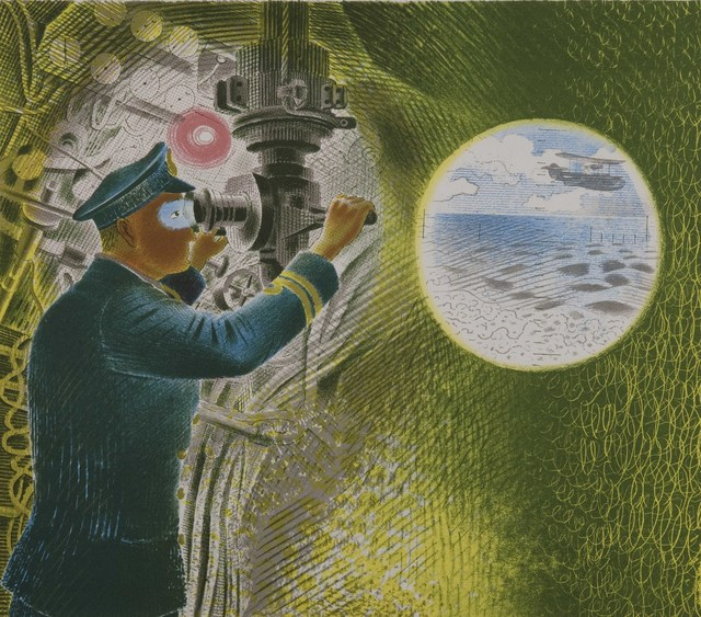 , 'Commander looking through the periscope,' , The Fine Art Society