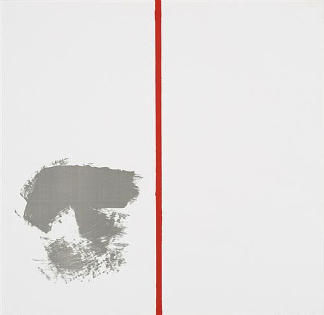", 'Ohne Titel ""mit rotem Strich"",' 1970, Carolina Nitsch Contemporary Art"