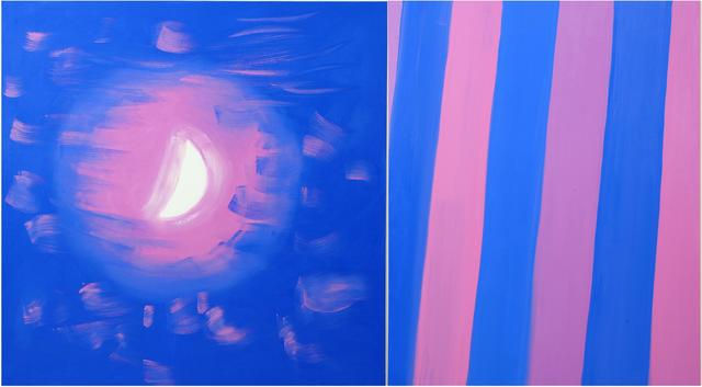 , 'Diptych (Moon, Stripe, Speckled Pink Light), 2015,' 2015, Nina Johnson
