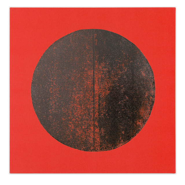 Chad Kouri, 'Reflection Pool Orange (2x2)', 2021, Painting, Foil on dyed canvas, Uprise Art