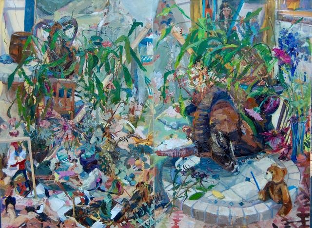 Gulgun Aliriza, 'Monologue', 2011-2013, Painting, Oil on canvas, Diptych, Blue Mountain Gallery