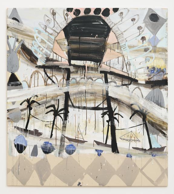 , 'Floor Palms Feathers,' 2016, Samuel Freeman