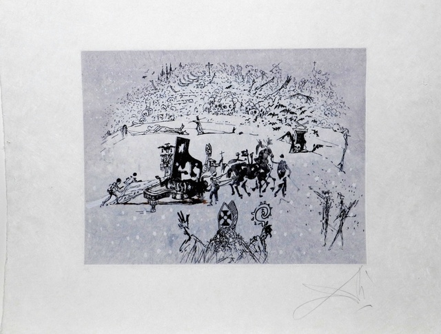 Salvador Dalí, 'Tauramachie Surrealiste The Piano in The Snow', 1970, Fine Art Acquisitions