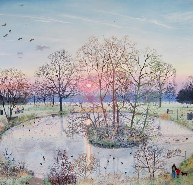, 'Sunset Over Frozen Pond,' 2017, Rebecca Hossack Art Gallery