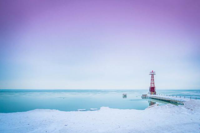, 'Lake Michigan Lighthouse,' 2017, MvVO ART
