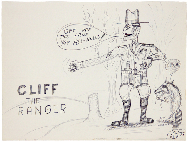 , 'Cliff the Ranger,' 1977, Linn Lühn