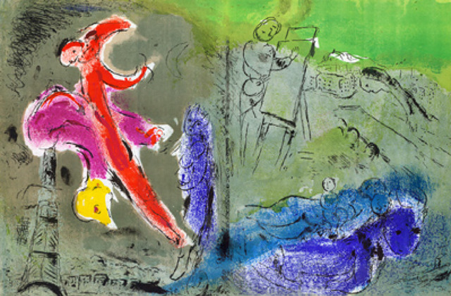 Marc Chagall, 'Visions des Paris', 1952, Print, Lithograph printed in colors on wove paper, Galerie d'Orsay
