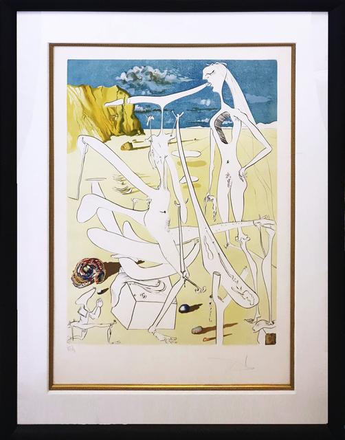 Salvador Dalí, 'INFRATERRESTRIALS ADORED BY DALI', 1974, Gallery Art