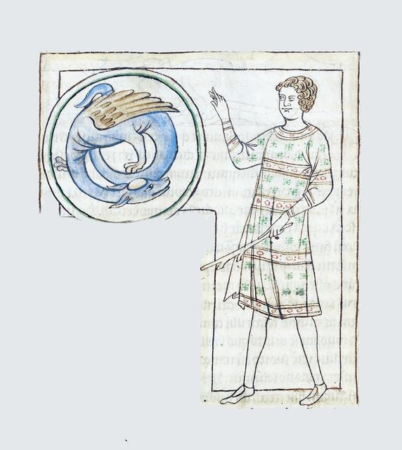 , 'An Emorois (detail), Northumberland Bestiary,' 1250-1260, Machamux
