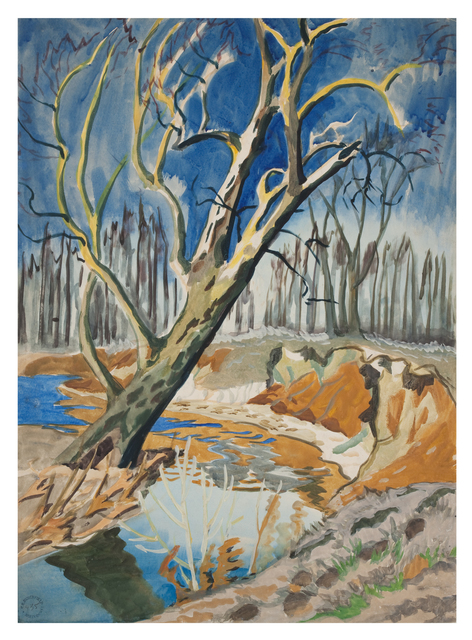 , 'Tree and Brook,' ca. 1917, DC Moore Gallery