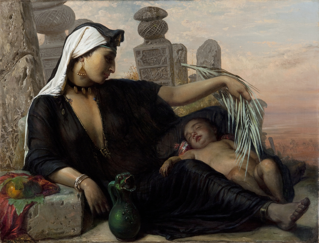, 'An Egyptian Fellah Woman with her Baby,' 1872, Statens Museum for Kunst
