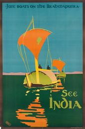 SEE INDIA / JUTE BOATS ON THE BRAHMAPUTRA