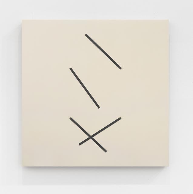 , 'Vier exzentrische streifen, je zwei synchron ,' 1976, The Mayor Gallery