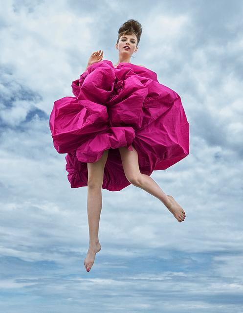 Arthur Elgort, 'UP, UP, AND AWAY!, Fran Summers, VOGUE UK', 2019, Photography, Archival Pigment Print, Staley-Wise Gallery