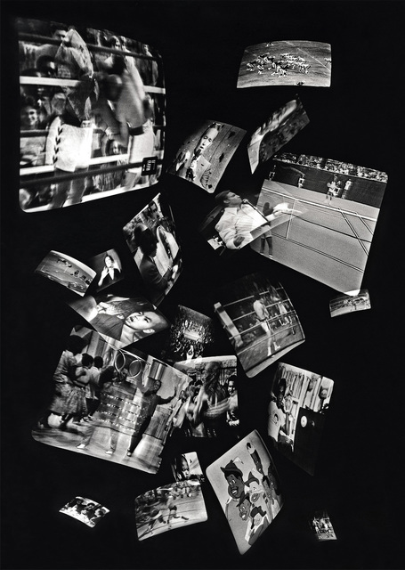 , 'Black and White, from the Mass Media Series,' 1980, Scott Nichols Gallery