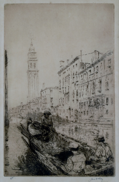 James McBey, 'Rio Dei Greci, Venice', 1926, Private Collection, NY