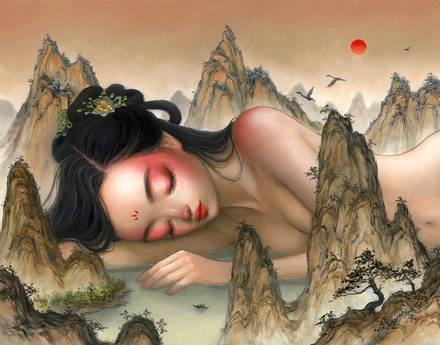 Happy D., 'Where Noone Can Wake Me', 2019, Painting, Oil on panel, Corey Helford Gallery