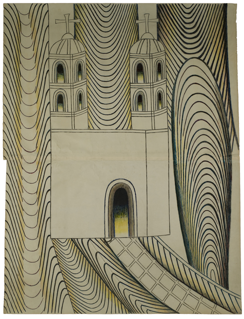 , 'Untitled (Church with Arches and Tunnels),' 1950-1955, Ricco/Maresca Gallery