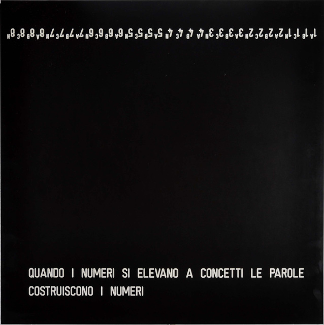 , 'Quando i numeri si elevano a concetti le parole costruiscono i numeri,' , Robilant + Voena