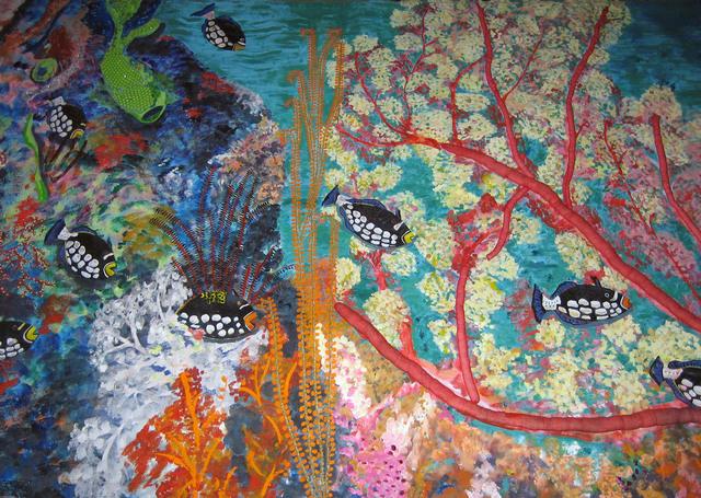 , 'Dumaguete's underwater garden (detail),' 1987, Pacita Abad Art Estate