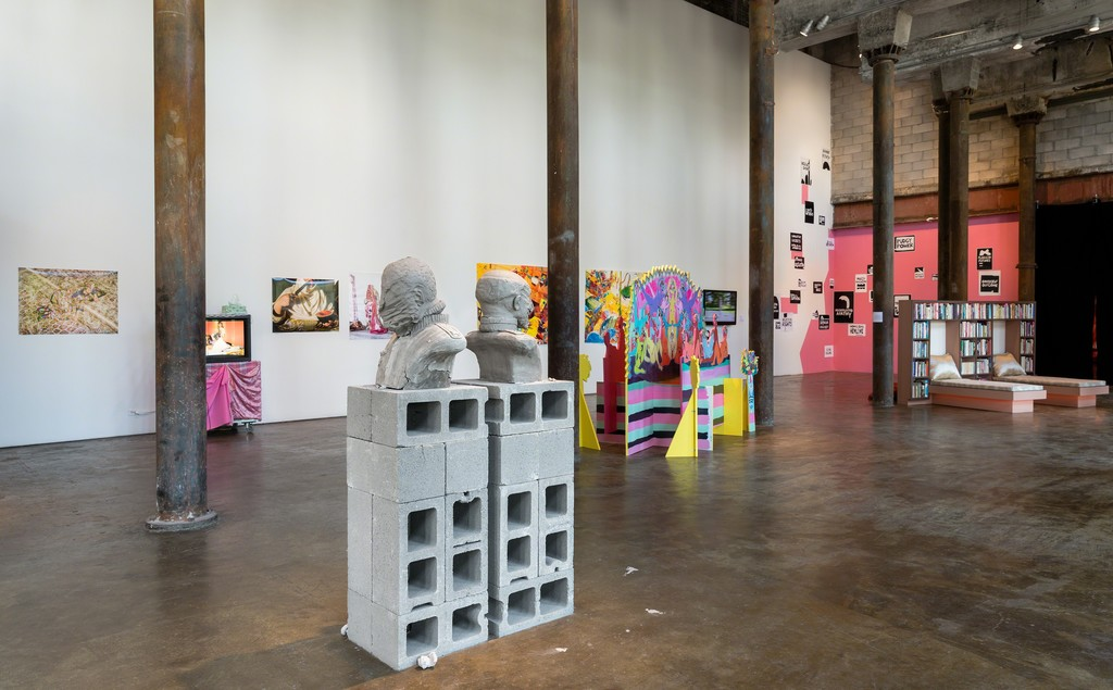Installation view of Laugh Back, 2018.