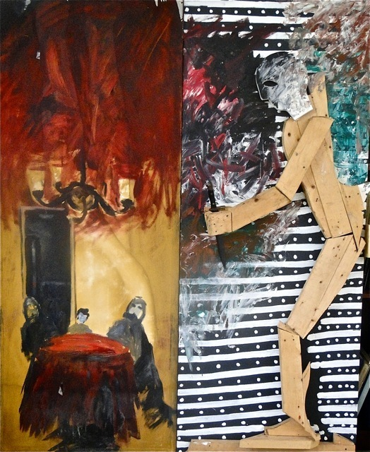 Komar & Melamid, 'Midnight Raging with a Knife', 1985-1986, Vohn Gallery