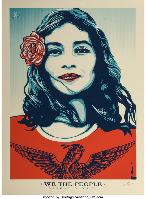 Shepard Fairey (OBEY), 'Defend Dignity', 2017, Heritage Auctions