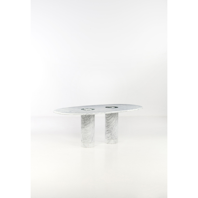 Adolfo Natalini | Sole & Lua - dining room table (circa 1986