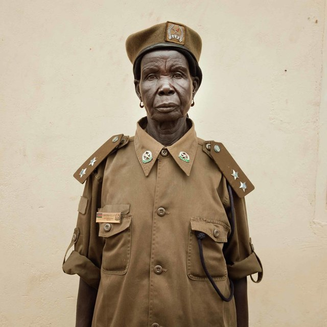 Alinka Echeverria, 'Juba, South Sudan, June 2011. Christina Killa, the chief prison officer of Juba Women's Prison. She fought in the war for 17 years, leaving the harsh conditions of the bush only when she had children', 2011, Center for Photography at Woodstock: Benefit Auction 2018