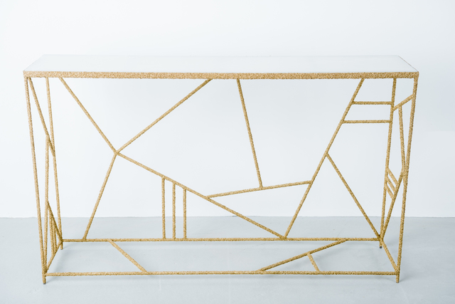 , 'Brass and Onyx Console,' 2016, DeLorenzo Gallery
