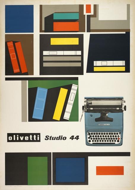 , 'Olivetti Studio 44 poster,' 1954, San Francisco Museum of Modern Art (SFMOMA)