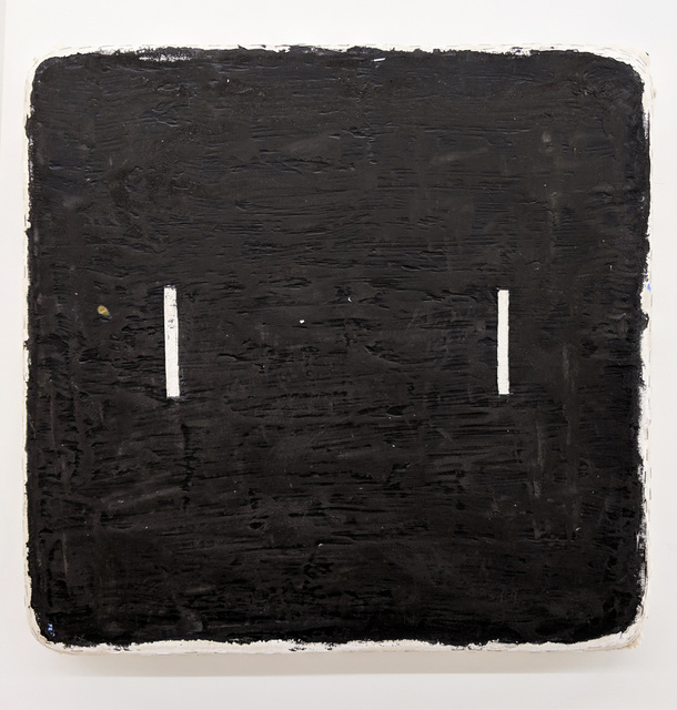 , 'Black Square Two White Lines,' 2019, Marc Straus