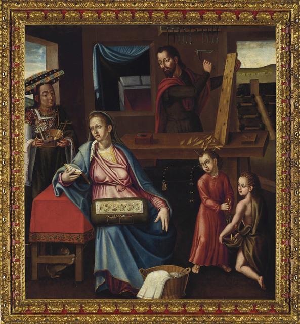 Follower of Bernardo Bitti, 'La sagrada familia en el taller de Nazareth', early 17th century, Christie's