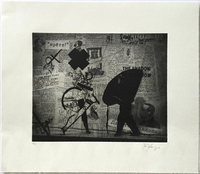 William Kentridge, 'Nose Projection with Walking Woman (from Nose Portfolio)', 2010, Jim Kempner Fine Art