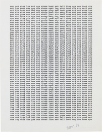 Carl Andre, 'sun act star law set age stone hand cut bell time age now foot din,' 1964, Phillips: 20th Century and Contemporary Art Day Sale (November 2016)
