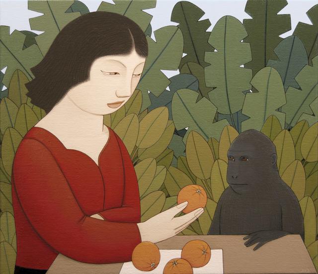 , 'Loretta Feeding a Monkey,' 2017, Adelson Galleries