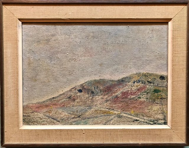 Ivan Kurach, 'Untitled, Lonely Abstract Landscape Italian Expressionist Oil Painting', Mid-20th Century, Lions Gallery