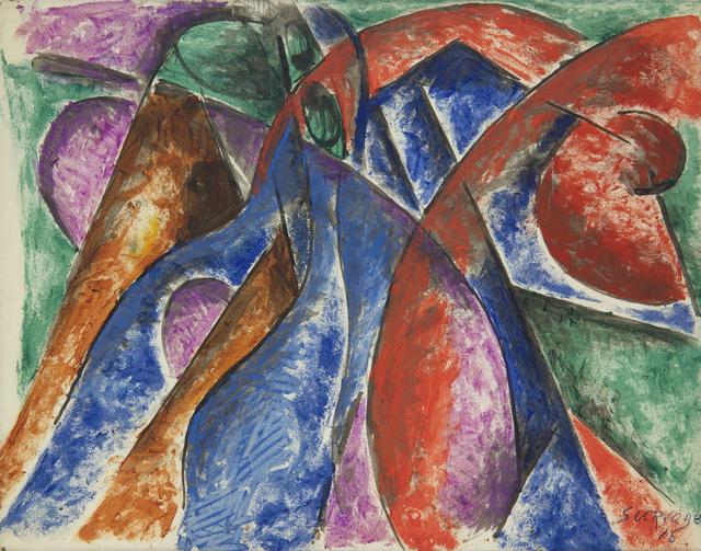 , 'Rythme coloré,' 1915, Galerie Le Minotaure