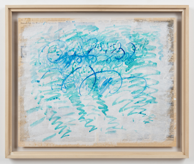 , 'Untitled (Blue Zig-Zags),' 1988, Alexander and Bonin