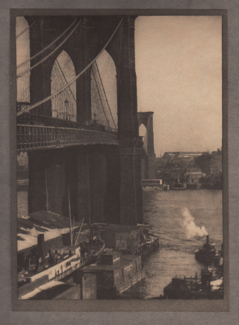 , 'Brooklyn Bridge, From a Roof-top,' Neg. date: 1909 c. / Print date:1909, Alan Klotz Gallery